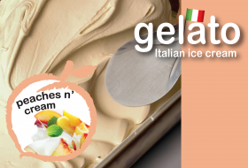 Peaches 'N Cream Gelato
