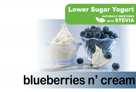 Lower Sugar Stevia Blueberries n Cream