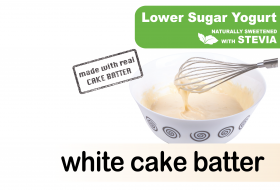 Lower Sugar Stevia White Cake Batter